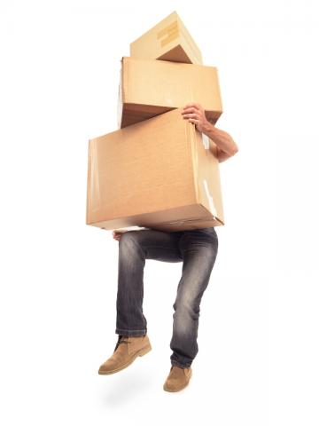 person carrying packages