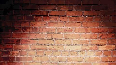 Comedy club brick wall